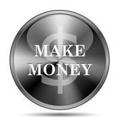 Make money icon — 图库照片