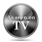 As seen on TV icon — Foto Stock
