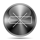 Empty battery icon — Stock Photo