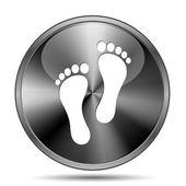 Foot print icon — Stock Photo