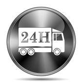 24h dodání truck ikona — Stock fotografie