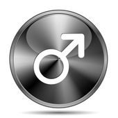 Male sign icon — 图库照片