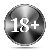 18 plus icon — Stock Photo