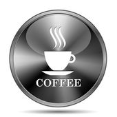 Coffee cup icon — Stock Photo