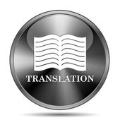Vertaling boekpictogram — Stockfoto
