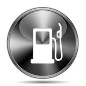 Gas pump icon — 图库照片