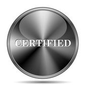Certified icon — Stock Photo