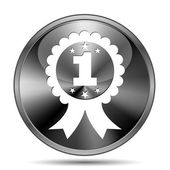 First prize ribbon icon — Stock Photo