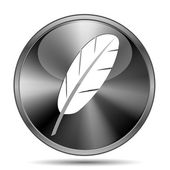 Feather icon — Stockfoto