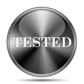 Tested icon — Stock Photo
