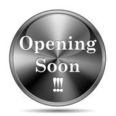 Opening soon icon — Foto de Stock