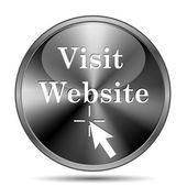 Посетите веб-сайт значок — Стоковое фото