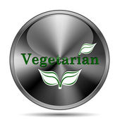 Vegetarian icon — Stock Photo