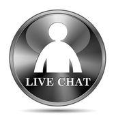Icono de chat en vivo — Foto de Stock