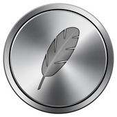 Feather icon — Foto Stock