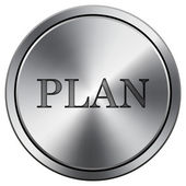 Plan icon — Stock Photo