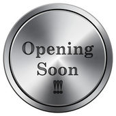 Opening soon icon — Stockfoto