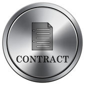 Contract icon — Stok fotoğraf