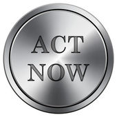 Act now icon — Stock Photo