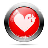Heart with cross icon — ストック写真