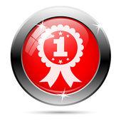 First prize ribbon icon — Stok fotoğraf