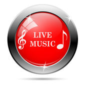 Live music icon — Stockfoto