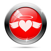 Heart angel icon — Foto Stock