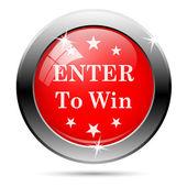 Enter to win icon — Stockfoto