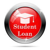 Student loan icon — Stock Photo