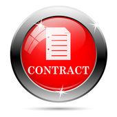контракт значок — Стоковое фото