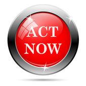 Act now icon — Stockfoto