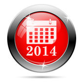 Ikona kalendáře 2014 — Stock fotografie