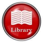 Kütüphane simgesi — Stok fotoğraf
