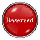 Reserverade ikonen — Stockfoto