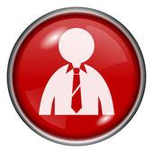 Business man ikonen — Stockfoto