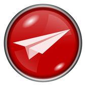 Paper plane icon — Stock Photo