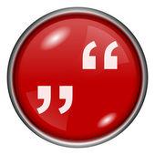 Quotation marks icon — Stok fotoğraf