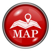 Ícone mapa — Fotografia Stock