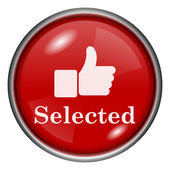 Selected icon — Stockfoto