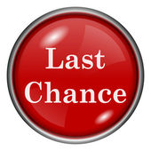 Last chance icon — Stockfoto