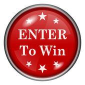 Enter to win icon — Stock Photo