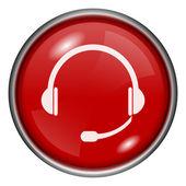 Hörlurar-ikonen — Stockfoto