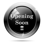 Opening soon icon — Stock Photo