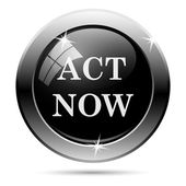 Act now icon — Stock Photo