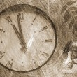 Grunge background with old clock — Stock Photo