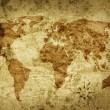 Stock Photo: Old grungy map of world
