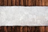 Old banner on wooden background — Stock Photo