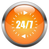 Vektör düğmesini 24 7 — Stok Vektör