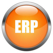 Vector Button ERP — Stock Vector