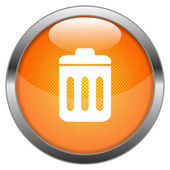 Vector Button Trashbin — Stock Vector